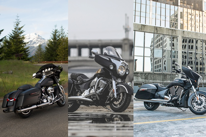 harley davidson street glide special indian chieftain et victory cross country 2015