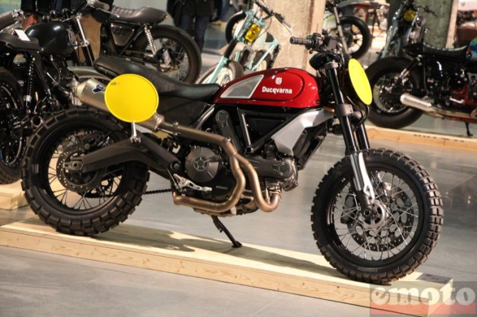 bike shed paris 2016 ducqvarna sur base de ducati scrambler