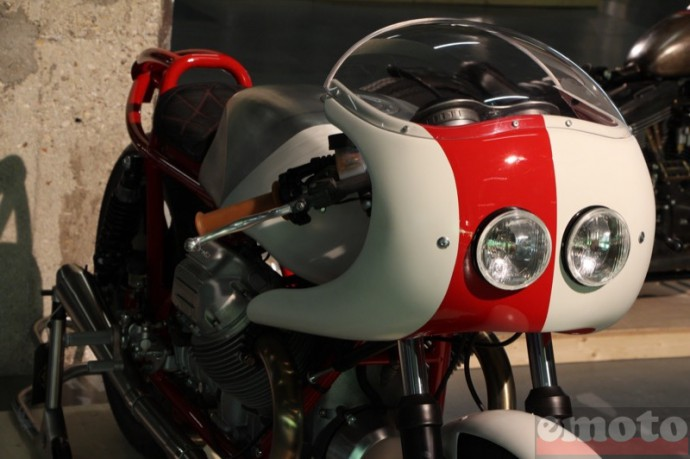 bike shed paris 2016 preparation tres originale sur une base moto guzzi